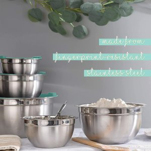 WHYSKO Meal Prep Stainless Steel Mixing Bowls Set