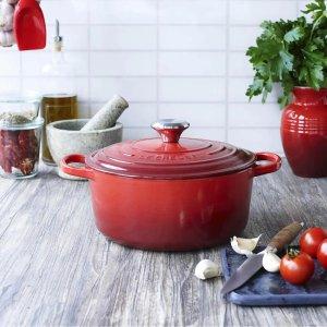 Le Creuset适合炖煮红色铸铁锅 - 28cm