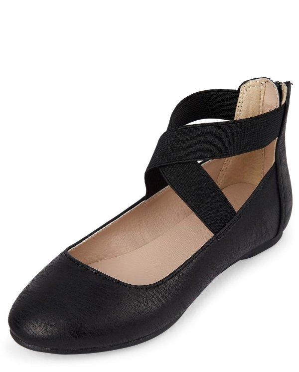 儿童芭蕾平底鞋