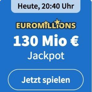 周二/五开奖 2注机会只要€6EuroMillions 彩票奖金累计1.3亿欧 近10亿人民币 单车秒变摩托