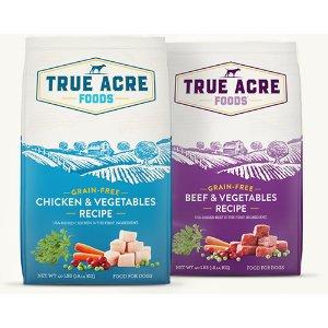 狗粮第一袋减$10 零食买1送1Chewy 精选True Acre Foods 狗粮、狗零食热卖