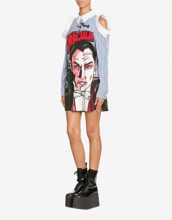 Dracula Moschino X Universal 衬衫连衣裙