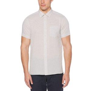 Short Sleeve Ottoman Dobby Shirt