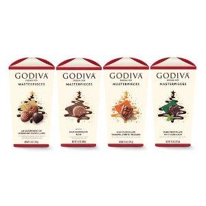 Godiva多口味巧克力4包