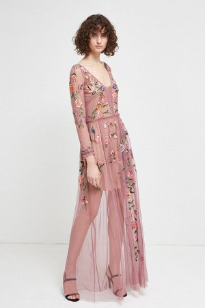 Katalina Sheer Maxi Dress   Dresses   French Connection Usa