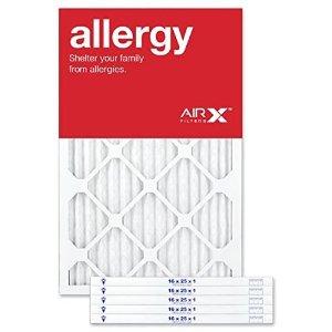 $36.54(原价$44.99)AIRx Filters抗过敏 空调暖气炉过滤网 (16*25*1inch) 6件套 美国造
