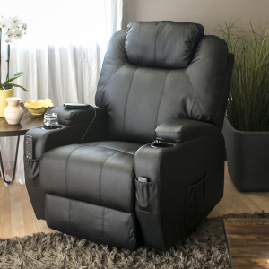 $299.99Swivel Massage Recliner Chair w/ Remote Control, 5 Modes