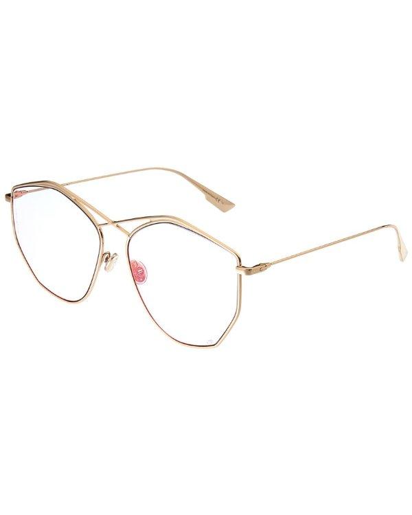 女士金边眼镜