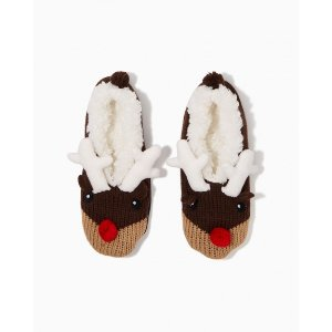 $20 Off Over $40Fuzzy Reindeer Slippers