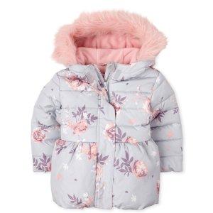 The Children's Place婴幼儿花朵保暖外套