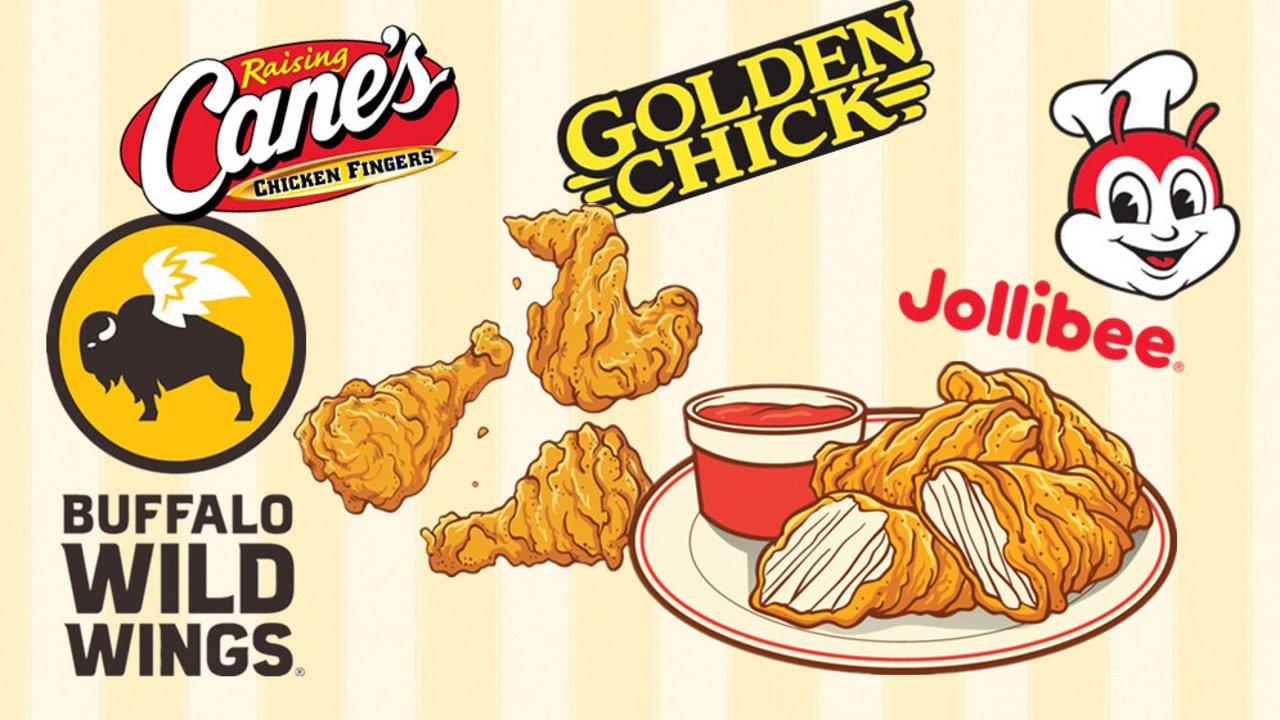 盘点美国最美味炸鸡第二弹!jollibee,Raising Cane's。。。超美味炸鸡停不下来!