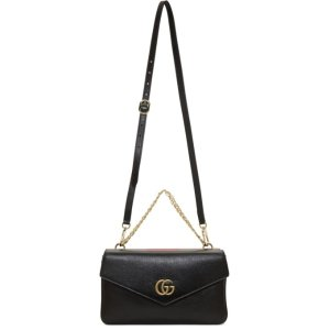 Gucci- Black & Red Thiara Double Bag