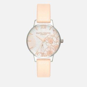 Olivia Burton裸粉印花手表