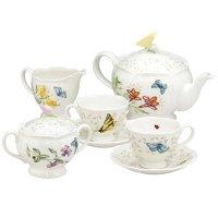 Lenox 蝶舞花香 2人份茶具7件套