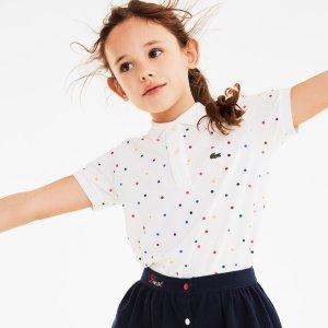 5折起+额外8折 低至$20.00中秋精选:Lacoste 萌新童装特卖 可爱小鳄鱼印花短袖