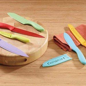 $24.99(原价$49.99)Cuisinart 彩色刀组12件套 带有刀片保护套 外出烧烤携带方便