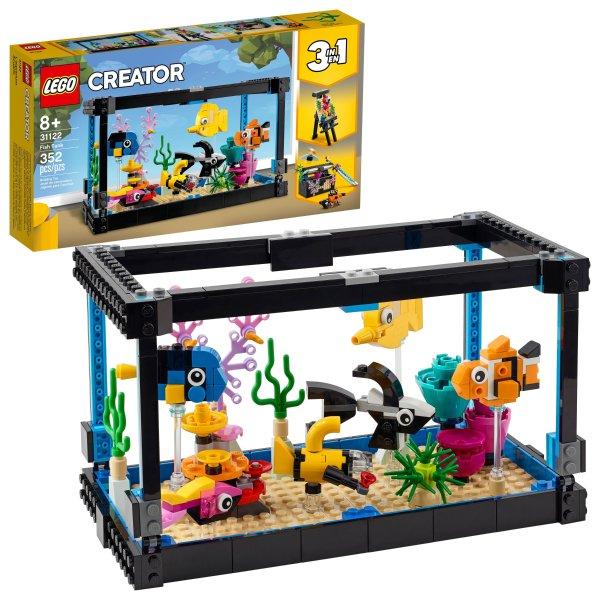 LEGO 创意百变三合一 鱼缸 31122,八月新品