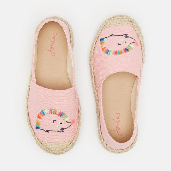 儿童刺绣渔夫鞋