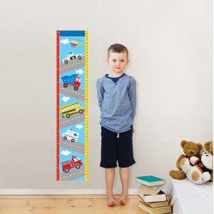 $11.88(原价$22.87)史低价:WallPops WPG0622 交通运输图案儿童量身高墙上贴纸