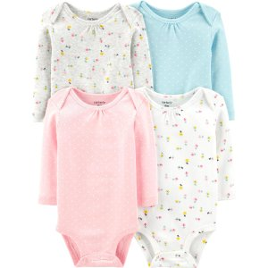 Carter'sDoorbuster女婴花朵长袖包臀衫4件套