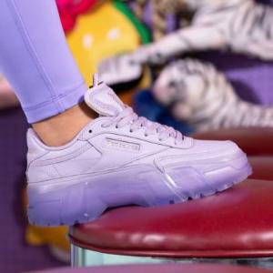 €75收封面果冻底潮鞋Reebok X Cardi B 卡姐联名发售 绝美香芋紫单品 做性感辣妹