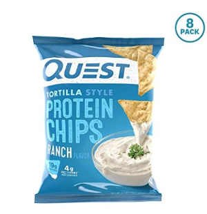$12.74Quest Nutrition Tortilla Style Protein Chips, Ranch, 8 Count