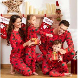 低至3.5折+额外8.5折PatPat 圣诞节日亲子家居服特卖 全家福美照拍起来