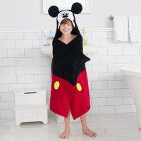 迪士尼儿童纯棉连帽浴巾
