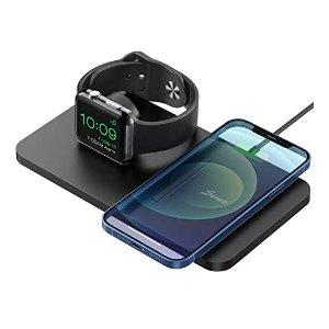 Seneo 2合1 双无线充电底座 支持Apple Watch
