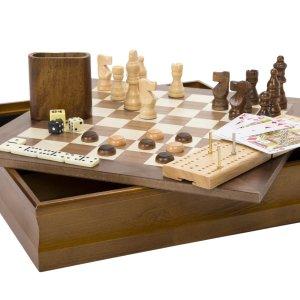 Hey! Play!7-in-1 经典游戏,象棋、跳棋、多米诺骨牌、纸牌等