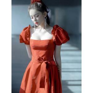 Self-Portrait古力娜扎同款!红色公主裙