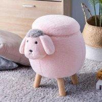 粉色小羊收纳凳