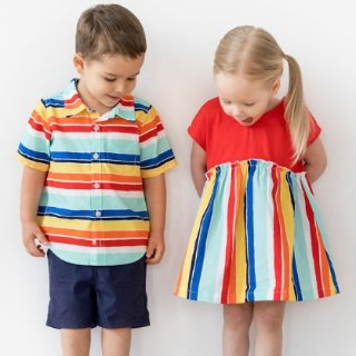 5折起+额外7折+新用户额外8折Hanna andersson 清仓区童装特卖 颜色鲜艳、做工精致