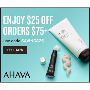 $25 Off with Order Over $75Ahava Skincare Sale