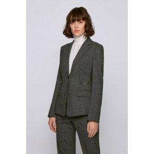 Hugo BossHardware-trimmed jacket in stretch virgin wool