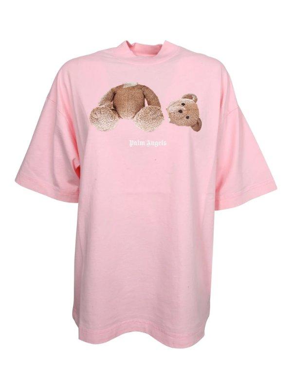 断头熊粉色T恤