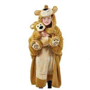 立减$30 送毛绒玩偶Plushible 可爱小熊/独角兽披毯特卖