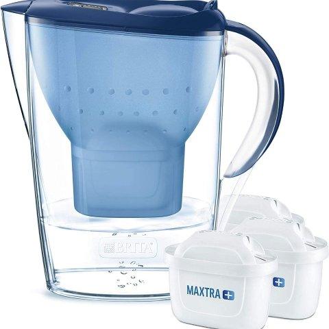 低至5.7折 €19.9收3只滤芯+水壶黑五开抢:Amazon Brita滤水壶 解决水质问题 不做秃头星人