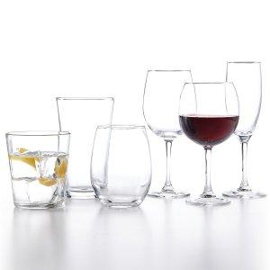 12件套装仅需$9.99Martha Stewart 精美玻璃杯、酒杯12件套