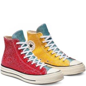 1双9折 2双8折 3双7折x JW Anderson Chuck 70 闪片高帮鞋
