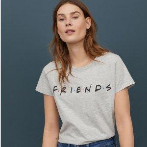 额外8折 $5收简约T恤限今天:H&M官网 折扣区男女服饰热卖 $2.39起