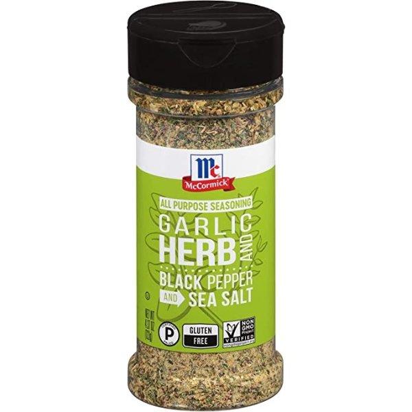 大蒜黑椒海盐多用途调味料 4.37 oz