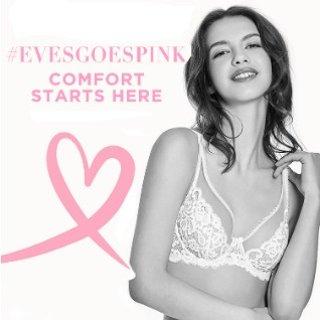 3件$99+额外8.5折+免邮 小胸妹妹的福音Eve's Temptation 小胸内衣专场,关爱乳腺癌从内衣开始