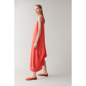 COS橘色无袖连衣裙