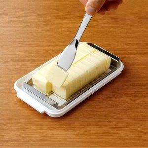 5.4折 直邮含税到手价$36Skater 黄油切割收纳盒 改刀20份小块 自带黄油刀 日本制造