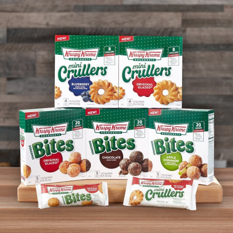 Now Available at WalmartKrispy Kreme New Bites and Mini Crullers are Here