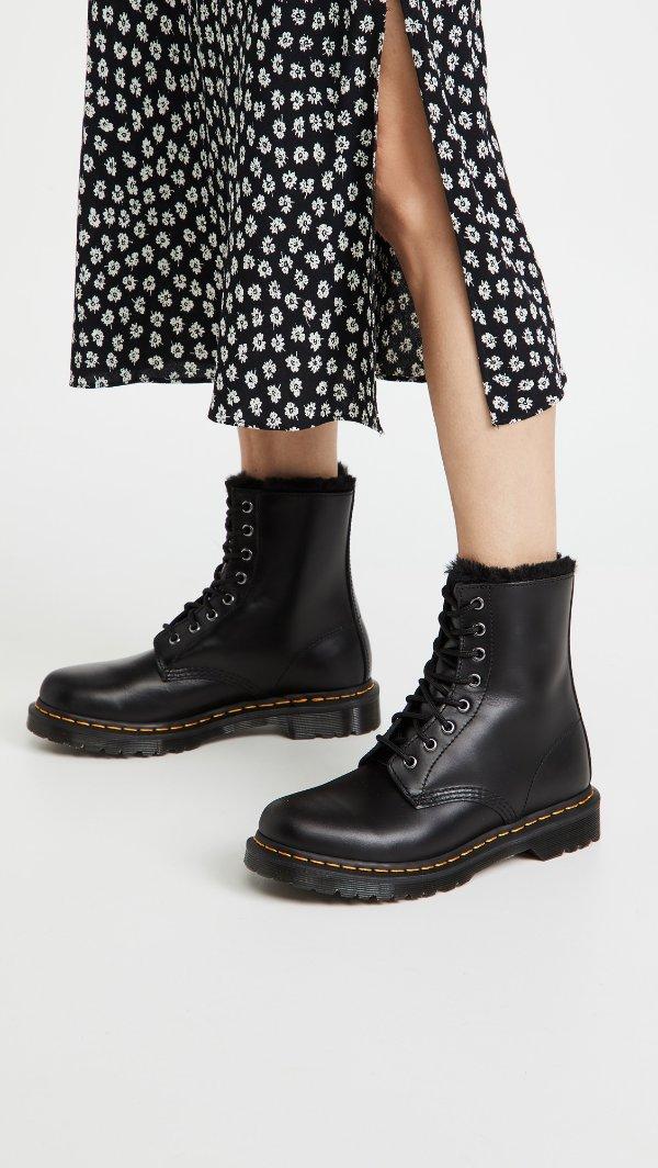 1460 Serena 8 孔加绒马丁靴