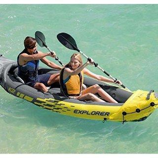 $41.99起(原价高达$75)+包邮Intex 充气款户外水上皮划艇Kayak双人,单人款促销