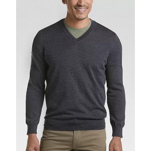 Joseph Abboud2 For $75Charcoal 37.5 Technology V-Neck Sweater