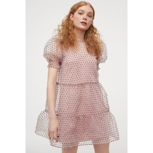 H&MShort Puff-sleeved Dress